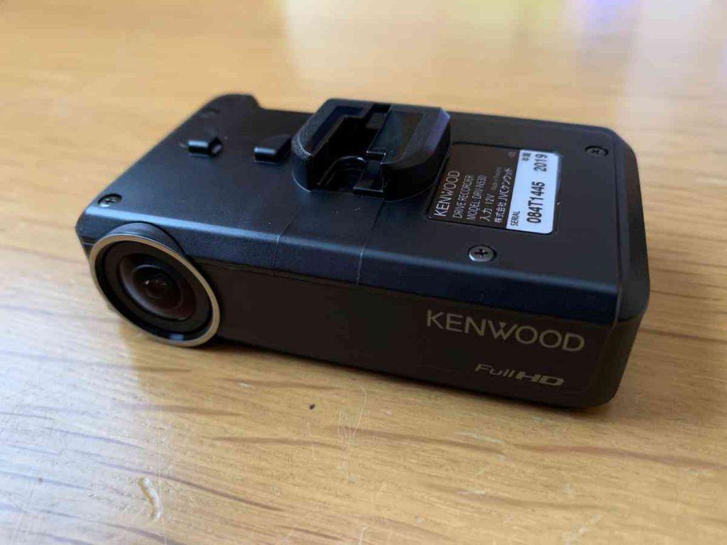 ケンウッド製のドラレコ DRV-N530 前面部分
