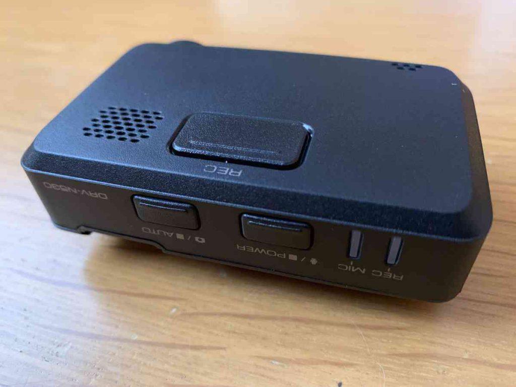 ケンウッド製のドラレコ DRV-N530 操作ボタン部分